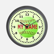 Softball My Game Wall Clock