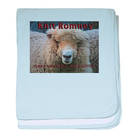 Knit Romney baby blanket