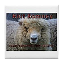 Knit Romney Tile Coaster