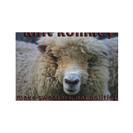 Knit Romney Rectangle Magnet