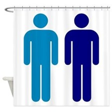 Blue Boys In Love Gay Marriage Shower Curtain