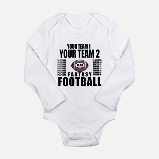 YOUR TEAM FANTASY FOOTBALL PERSONALIZED Long Sleev