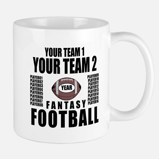 YOUR TEAM FANTASY FOOTBALL PERSONALIZED Mug