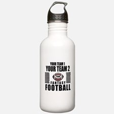 YOUR TEAM FANTASY FOOTBALL PERSONALIZED Water Bottle