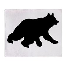 Black Bear Cub Crossing Walking Throw Blanket