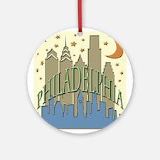 Philly Skyline beachy Ornament (Round)