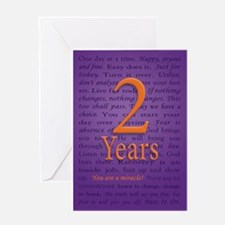 2 Year Recovery Birthday Greeting Card -