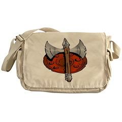 Viking Shield & Battle Ax Messenger Bag