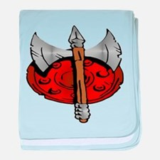 Viking Shield & Battle Ax baby blanket