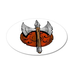 Viking Shield & Battle Ax Wall Decal