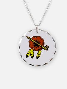 Shield & Tobacco Pipe Necklace
