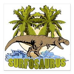 Surfosaurus Square Car Magnet 3
