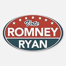 Vote Romney Ryan 2012 Sticker (Oval)