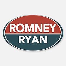 Romney Ryan Red / Blue Sticker (Oval)