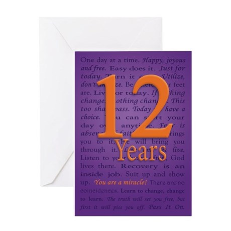 12 Year You are a Miracle Greeting Card