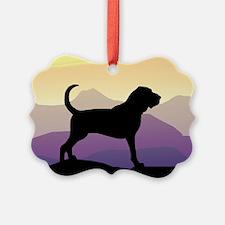 purple mountains bloodhound wd2.jpg Ornament