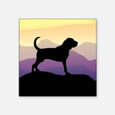 purple mountains bloodhound sq.jpg Square Sticker