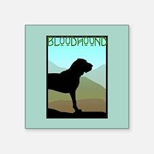 """craftsman bloodhound 6.jpg Square Sticker 3"""" x 3"""""""