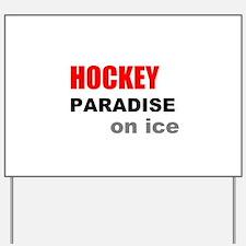 Paradise on Ice Yard Sign