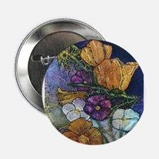 "Poppies & Pansies 2.25"" Button"