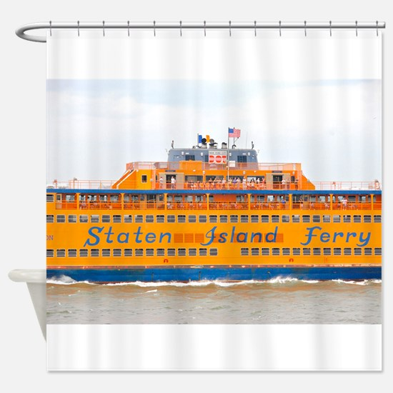 NYC: Staten Island Ferry Shower Curtain