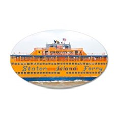 NYC: Staten Island Ferry 35x21 Oval Wall Decal