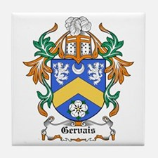 Gervais Coat of Arms Tile Coaster