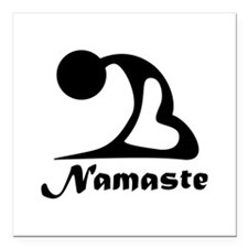 "Namaste Square Car Magnet 3"" x 3"""
