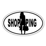Shopping - Oval Sticker