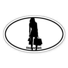 Shopping - Oval Decal