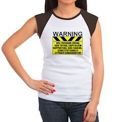 Evil Conservative Warning Women's Cap Sleeve T-Shi