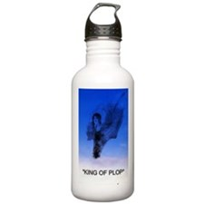 king of plop with text Stainless Water Bottle 1.0L