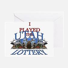Utah lottery Greeting Card