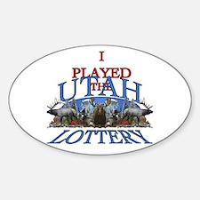 Utah lottery Decal