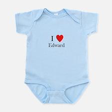i love Edward heart Infant Bodysuit