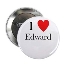 """i love Edward heart 2.25"""" Button"""