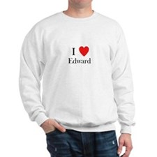 i love Edward heart Sweatshirt