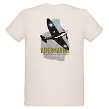 Spitire with ww2 pilot graphic T-Shirt