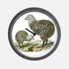 Great Spotted Kiwi - Apteryx haasti Wall Clock
