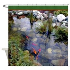 Koi Pond copy.jpg Shower Curtain