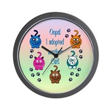 Oops! I Adopted Another Cat! Wall Clock