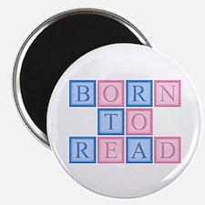 Born to Read Blocks Magnet