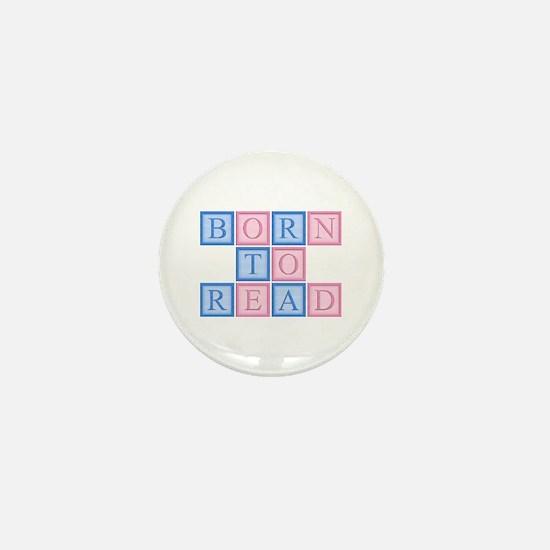Born to Read Blocks Mini Button
