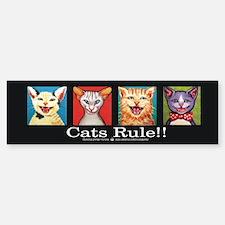 Cats Rule Bumper Bumper Bumper Sticker
