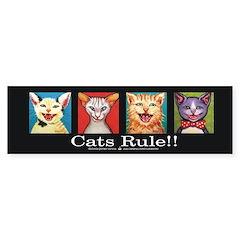 Cats Rule Bumper Bumper Sticker