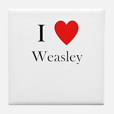 i love weasley Tile Coaster