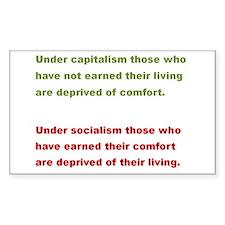 Capitalism vs Socialism Decal