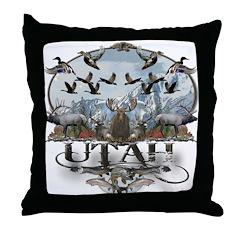 Utah outdoors Throw Pillow