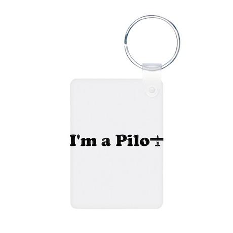 I'm a Pilot Aluminum Photo Keychain