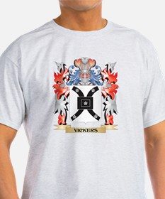 Vickers Coat of Arms - Family Crest T-Shirt